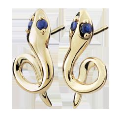 Boucles d'oreilles Balade Imaginaire - Mini venin - saphirs