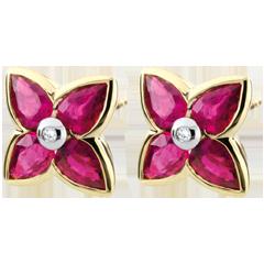 Boucles d'oreilles Belle étoile - rubis