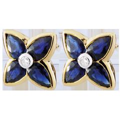 Boucles d'oreilles Belle étoile - saphirs