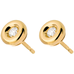 Boucles d'oreilles Calice diamants - puce or jaune 18 carats