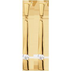 Boucles d'oreilles Cléopatre or jaune diamants