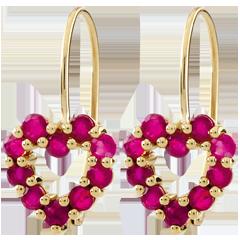 Boucles d'oreilles Coeur Rosie - rubis