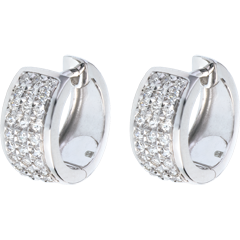 Boucles d'oreilles Constellation - Astrale - grand modèle - or blanc pavé - 0.43 carat - 54 diamants