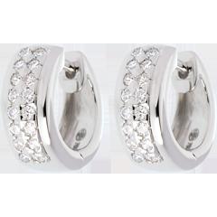 Boucles d'oreilles Constellation - Astrale - petit modèle - or blanc pavé - 0.22 carat - 32 diamants