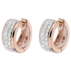 Boucles d'oreilles Constellation - Astrale - petit modèle - or rose - 0.22 carat - 32 diamants