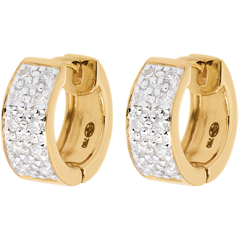 Boucles d'oreilles Constellation - Astrale variation - grand modèle - or jaune 18 carats - 0.2 carat - 20 diamants