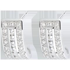 Boucles d'oreilles Constellation - Zodiaque - or blanc 18 carats et diamants