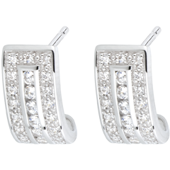 Boucles d'oreilles Constellation - Zodiaque - or blanc et diamants
