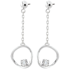 Boucles d'oreilles Cosmo - or blanc