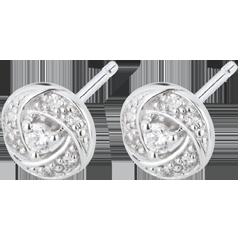 Boucles d'oreilles Destinée - Arthemis - or blanc et diamants