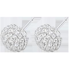 Boucles d'oreilles Destinée - Olga - or blanc et diamants
