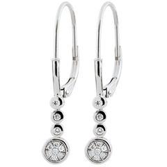 Boucles d'oreilles diamants Irissa - or blanc 18 carats