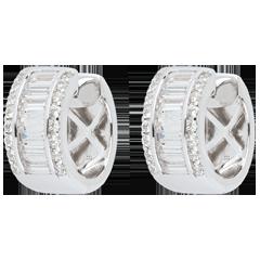 Boucles d'oreilles Féérie - Lumière Infinie - grand modèle - or blanc 18 carats