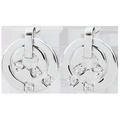 Boucles d'oreilles Harmonia - or blanc 18 carats