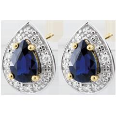 Boucles d'oreilles Larmes de féerie - or blanc 9 carats