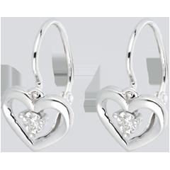 Boucles d'oreilles mon amour or blanc et diamants