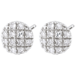 Boucles d'oreilles New-York - or blanc 9 carats