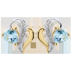 Boucles d'oreilles Ouaki - topaze bleue