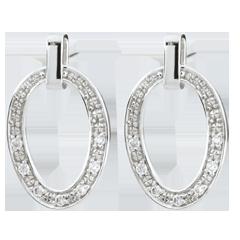 Boucles d'oreilles Ovalia - or blanc 18 carats