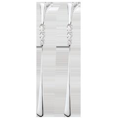 Boucles d'oreilles pendantes Aliria - or blanc 18 carats et diamants