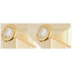Boucles d'oreilles Poupée Solitaire or jaune