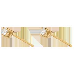 boucles d'oreilles puces diamant or jaune 18 carats Joya