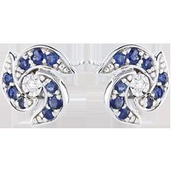 Boucles d'oreilles Rinaka - or blanc 9 carats