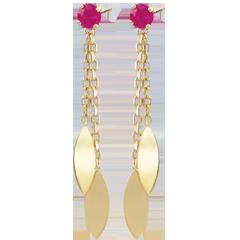 Boucles d'oreilles Sakari - rubis