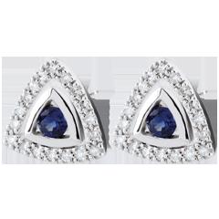Boucles d'oreilles Salma - saphirs bleus