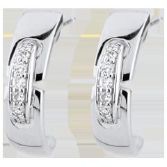 Boucles d'oreilles Union éternelle - or blanc