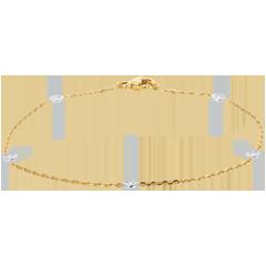 Bracciale Costellazione - Oro bianco e Oro giallo - 18 carati - 5 Diamanti