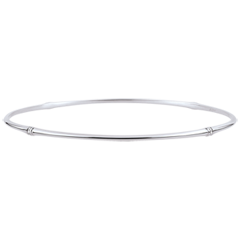 Bracciale Giunco Giungla Sacra - diamanti - oro bianco 18 carati