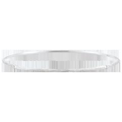 Bracciale Giunco Giungla Sacra - diamanti - oro bianco spazzolato 9 carati