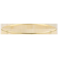 Bracciale Giunco Giungla Sacra - diamanti - oro giallo 9 carati