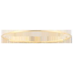Bracciale Giunco Giungla Sacra - diamanti - oro giallo spazzolato 9 carati