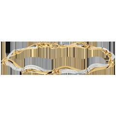 Bracciale Onde del Nilo - Oro bianco e Oro giallo - 18 carati - 18 Diamanti