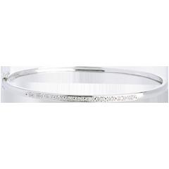 Bracciale rigido Diorama - Oro bianco - 18 carati - 11 Diamanti - carati 0.1