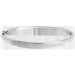Bracciale rigido Diorama - Oro bianco - 18 carati - 23 Diamanti - 0.25 carati