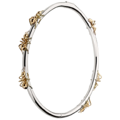 Bracelet Balade Imaginaire - Le Bal des Fourmis - or blanc et or rose