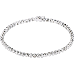 Bracelet Boulier diamants - or blanc - 1.15 carats - 60 diamants