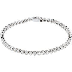 Bracelet Boulier diamants - or blanc 18 carats - 2 carats - 52 diamants