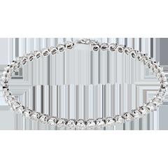 Bracelet Boulier diamants - or blanc 18 carats - 2 carats - 52 diamants