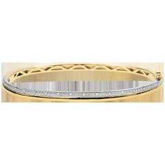Bracelet Elégance - or jaune, or blanc et diamants - 9 carats