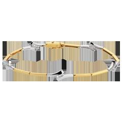 Bracelet épis - or blanc et or jaune 18 carats