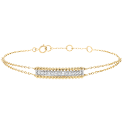 Bracelet Fleur de Sel - deux anneaux - or jaune 9 carats