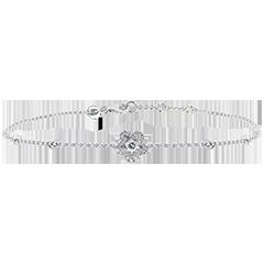 Bracelet Fraicheur - Anémone- or blanc 9 carats et diamants
