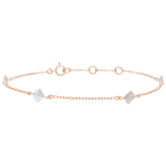 Bracelet Genesis - Rough Diamonds - Rose Gold - 18 carat