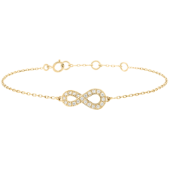 Bracelet Infini - or jaune et diamants