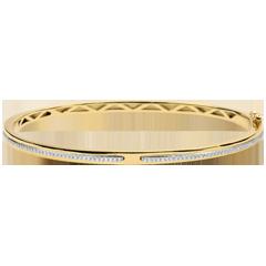 Bracelet Jonc Promesse - or jaune 9 carats et diamants