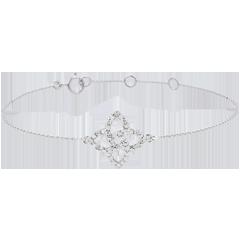 Bracelet or blanc 9 carats et diamants - Etoile Prisma